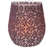 Candle Impressions 8 Brocade Vase with Flameless Candle - H208053