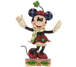 Jim Shore Disney Traditions Christmas Minnie Figurine