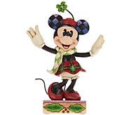 Jim Shore Disney Traditions Christmas Minnie Figurine - H209653