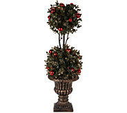22 Boxwood Topiary in Urn with Ornament Accents by Valerie - H212453