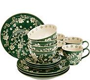 Cooks Essentials Santa Rosa 16-Pc Ceramic Dinnerware Set - H213153