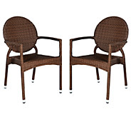 Safavieh Valdez Set of 2 Indoor/Outdoor Arm Chairs - H283253