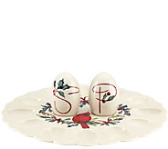 Lenox Winter Greetings Egg Platter with Salt and Pepper Shaker - H286853