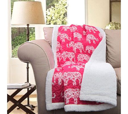 Elephant Parade Pink Sherpa Throw By Lush Decor Page 1