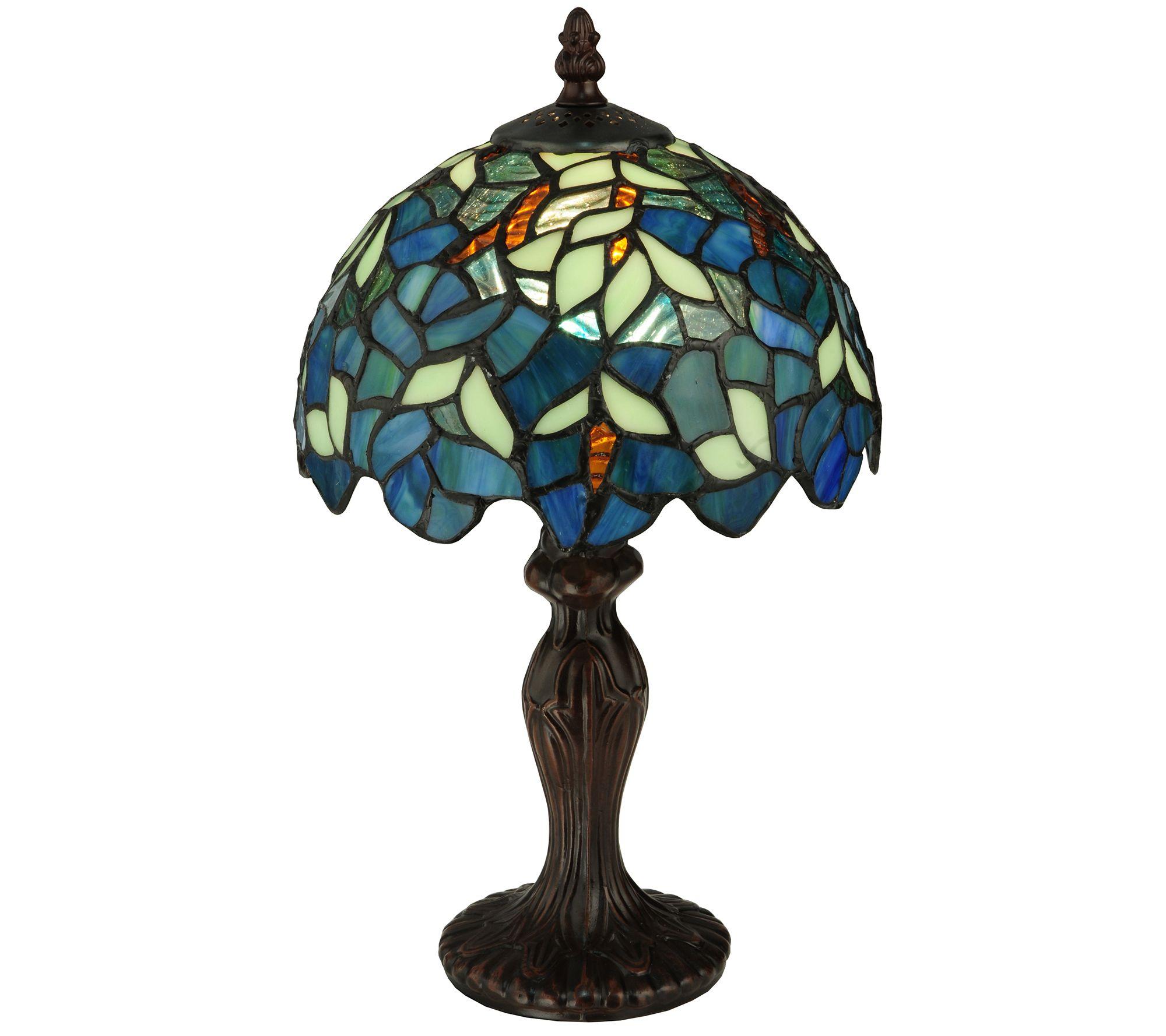Meyda Tiffany Style 14 Quot H Nightfall Wisteria Mini Lamp