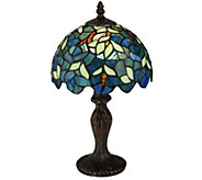 Meyda Tiffany-Style 14H Nightfall Wisteria Mini Lamp - H288153