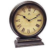 Distressed Round Table Clock - H348753