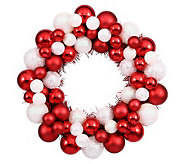 12 Candy Cane Ball Wreath by Vickerman - H354453