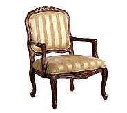 Burnaby Antiqued Oak Finish Accent Chair - H359453