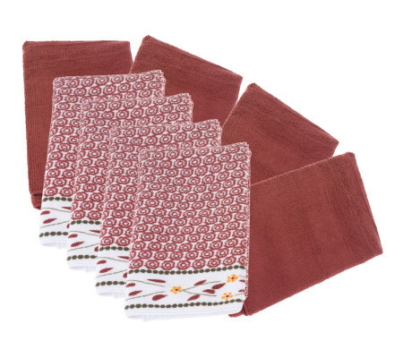 Temp-tations Old World Set of 8 Microfiber Towels