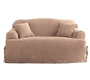 Sure Fit Soft Suede T-Cushion Love Seat Slipcover - H142454