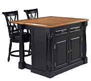 Home Syles Monarch Kitchen Island & Two Stools - H186654