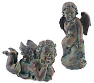 Set of 2 Garden Cherubs by Valerie - H202054