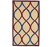 Royal Palace Trellis 30 x 50 Handmade Wool Rug - H202354
