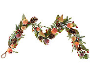 5 Sugared Fruit and Pinecone Garland - H203454