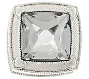 Judith Ripka Textured Anti-Tarnish Round Jewelry Box - H204354
