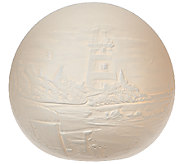 Porcelain Sphere Luminary with Scene by Home Reflections - H204954
