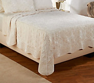 Dennis Basso Posh Velvet King Quilted Coverlet and Sham Set - H206454
