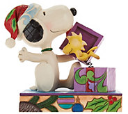 Jim Shore Snoopy & Woodstock A Christmas Surprise - H209654
