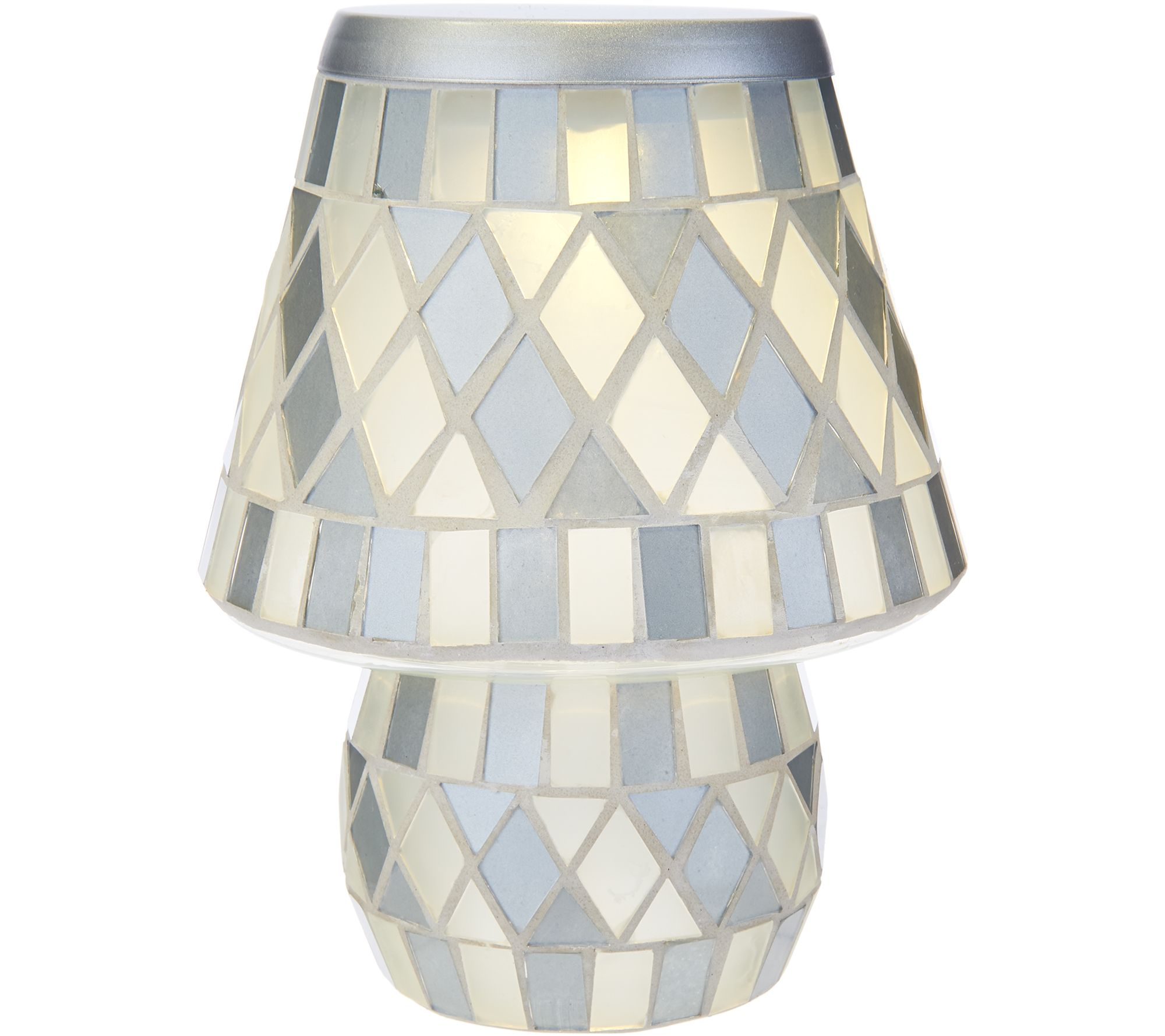 Glass Tile Diamond Pattern Battery Operated Lamp by Valerie   H209854Tiffany Style Lamps   Indoor Lighting   For the Home   QVC com. Tiffany Style Lamps Qvc Uk. Home Design Ideas