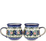 Lidias Polish Pottery Set of 2 Bubble Mugs - H211354