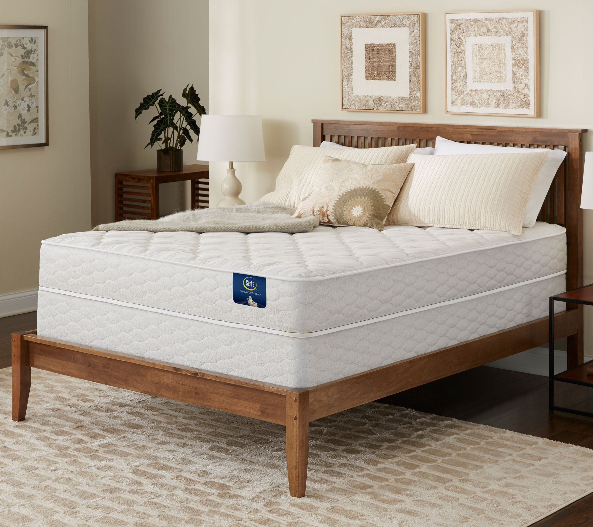 Serta Brookgate Plush Twin Mattress Set — QVC