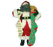 18 African American Santa by Santas Workshop-White Trim - H363254