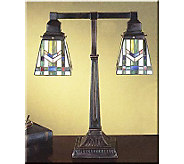 Meyda Tiffany Inspired Mission Style Table Lamp, 2 Shades 20 - H69554