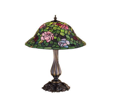 tiffany style 20 rose bush table lamp. Black Bedroom Furniture Sets. Home Design Ideas