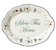 Pfaltzgraff Winterberry Bless This House Plate - H184455