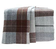 Amadeus Watson Heather Flannel Stripe Sheet Set with ExtraPillowcase