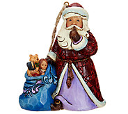 Jim Shore Heartwood Creek Santa Ornament - H206555