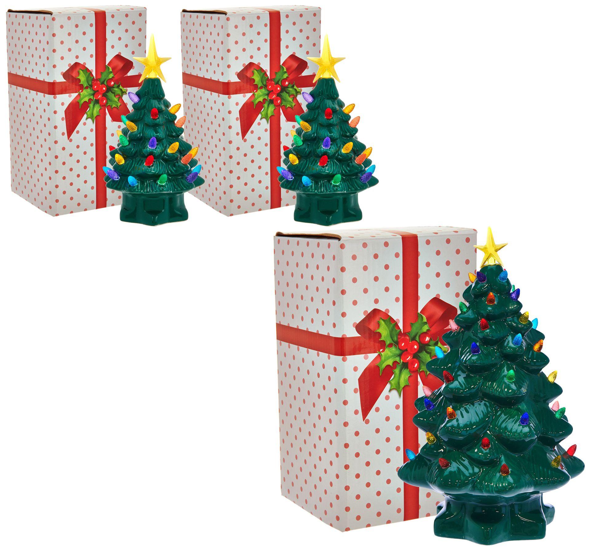 mr christmas choice of 14 or set of 2 7 nostalgic tabletop trees qvccom - Mr Christmas Tree