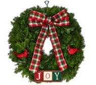 Fresh Balsam Holiday Wreath by Valerie