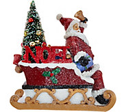 As Is Kringle Express Illuminated Snowman or Santa w/ Tree - H210955