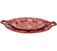 Cooks Essentials Santa Rosa S/2 Ceramic Oval Platters - H213155