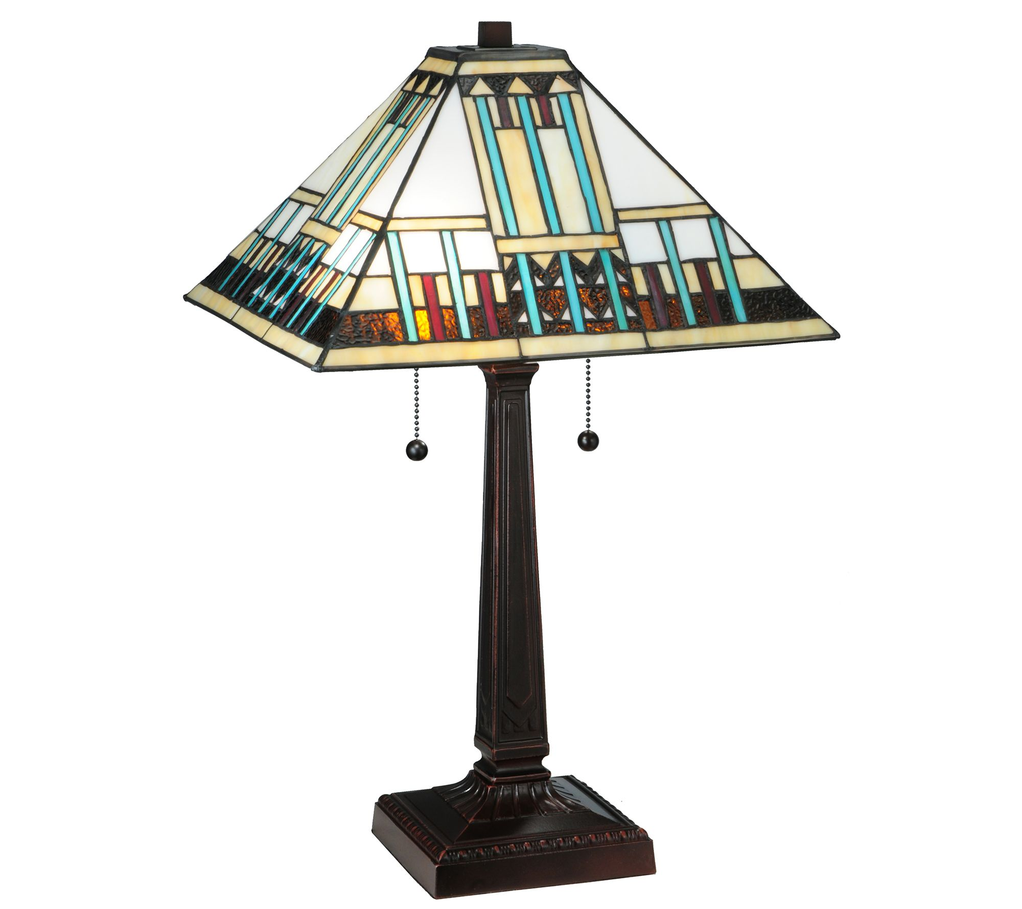 Meyda tiffany style 23quoth prairie peaks table lamp qvccom for Tiffany floor lamp qvc
