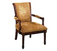 Stockton Antiqued Oak Finish Accent Chair - H359455