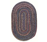 Twilight 8 x 11 Oval Wool Blend Braided Rug -Colonial Mills - H129656