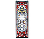 Tiffany Style Versaille Quatrefoil Transom Window Panel - H131356
