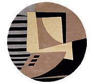 Momeni New Wave Abstract 59 Round Handmade Wool Rug - H161756