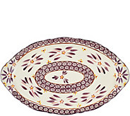 Temp-tations 18 Old World Platter with Figural Handles - H205056