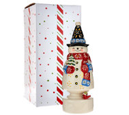 "Temp-tations Lit 9-3/4"" Winter Whimsy Character with Gift Box"