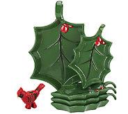 As Is Temp-tations Figural Cardinal 5 pc. Appetizer Set - H208256