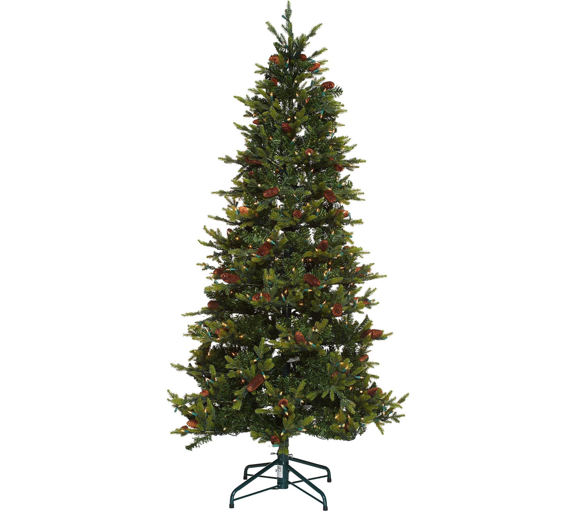 bethlehem lights 75 heritage spruce christmas tree winstant power h208556 - Fully Decorated Christmas Trees For Sale