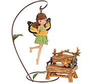 Hallmark Indoor/Outdoor Garden Fairy with Accessory - H210156