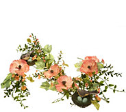 4 Poppies with Bird Garland - H210856