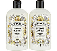 Poo-Pourri Set of (2) 16oz. Bathroom Deodorizer Refill Bottles - H213856