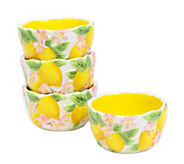 Temp-tations Figural Fruit Set of 4 6-oz Ramekins with Lids - H288956