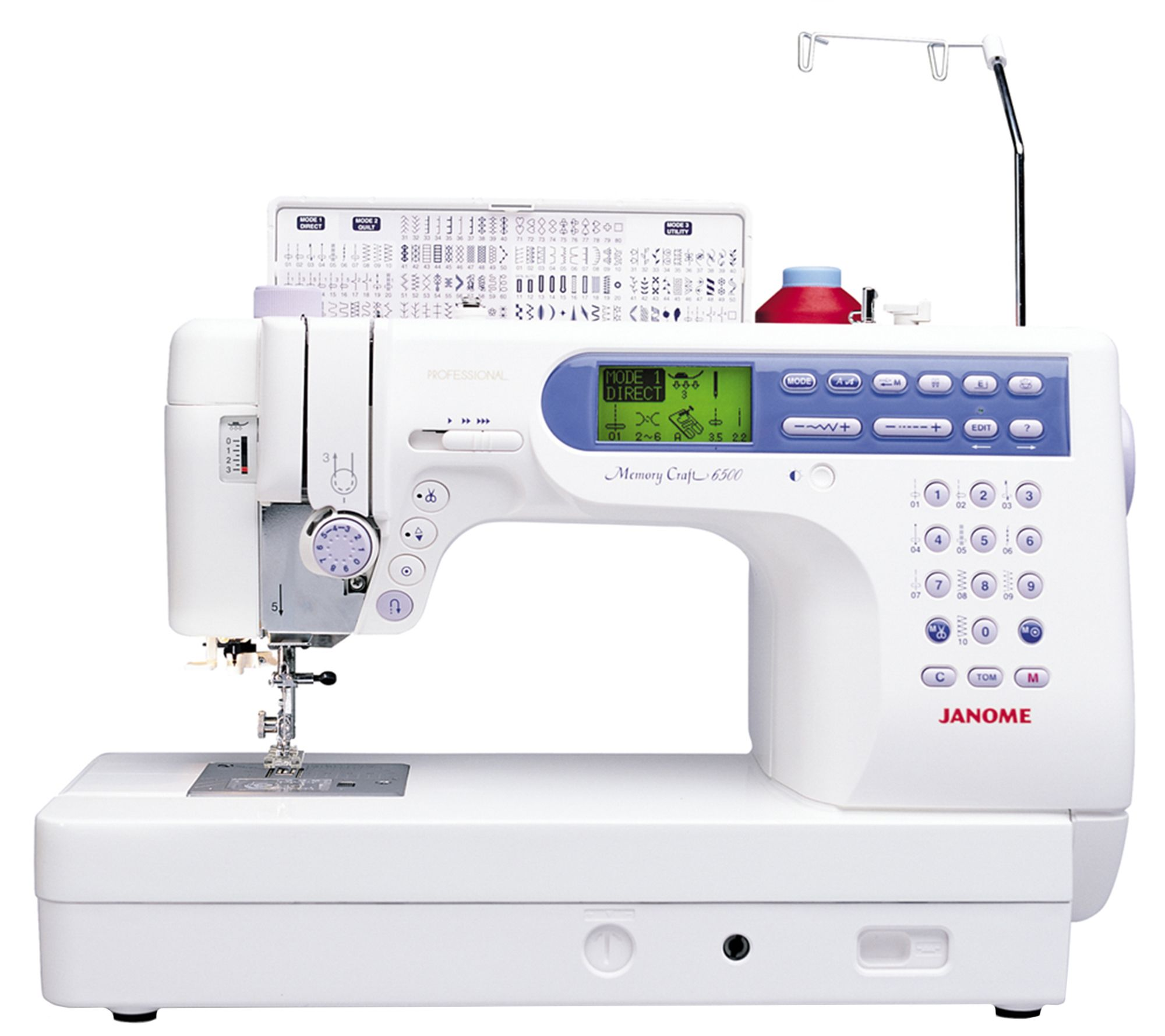 Janome Memory Craft 6500P Sewing Machine  QVC